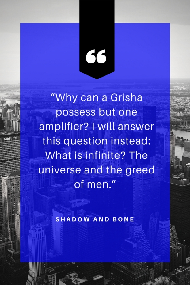 """Grisha Trilogy"" review by Leigh Bardugo"